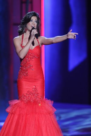 Miss America 2 PRELIMS: Miss North Carolina Johna Edmonds contestant perform her talent during the second preliminary Competition of the Miss America pageant in Atlantic City, New Jersey, September 11 2013. - Photo by Edward Lea