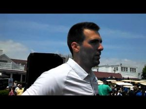 Joe Flacco at the Atlantic City Celebrity Golf Classic