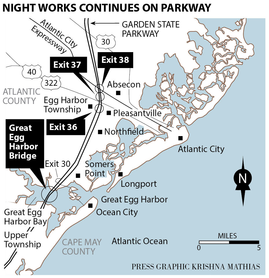 Night Work Speeds Completion Of New Parkway Span Traffic