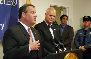 Christie Single Point Of Entry: Gov. Chris Christie speaks during the press conference. Tuesday May 6 2014 NJ Gov. Chris Christie meets with with Organization representatives involved with the Single Point of Entry Program at the Atlantic County Municipal Building in Atlantic City. (The Press of Atlantic City / Ben Fogletto) - Ben Fogletto