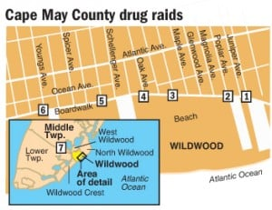 Cape May County synthetic drug arrest locations