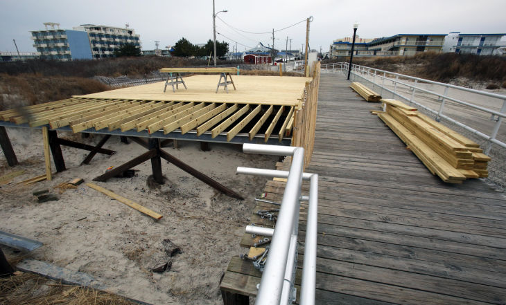 Wildwood crest builds deck at fishing club location for Atlantic city fishing pier