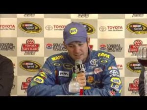 Martin Truex Jr. talks about his NASCAR Sprint Cup win
