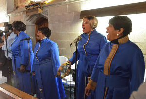 Easter Music: Atlantic City Choir members (l-r)Dinita Bailey, Yvonne Preston, Nadeen Nelson and Frenchie Holmes. Sunday March 24 2013 Asbury United Methodist Church, Atlantic City. (The Press of Atlantic City / Ben Fogletto)  - Ben Fogletto