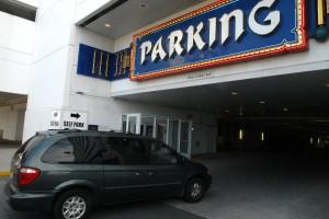 Casino Parking Icon: Self parking entrance at Trump Taj Mahal Casino Resort, in Atlantic City.   - Danny Drake / Sept. 19, 2011