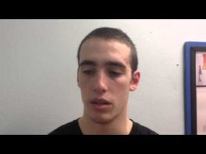 Postgame interview with Middle Township basketball player Tom Feraco
