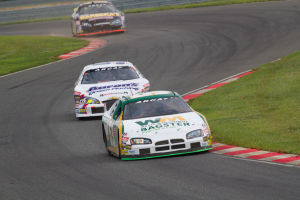 Ranger Car: Andrew Ranger leads Chase Elliott and Cherry Hill's Tom Hessert during Sunday's ARCA race at New Jersey Motorsports Park in Millville. - ARCA Racing