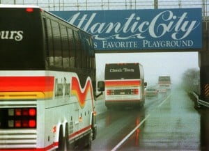 CASINO BUSES: Casino-bound buses may be able to skip tolls if legislation currently in the state Assembly becomes law. - Photo by DANIEL HULSHIZER