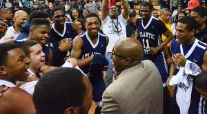 A.C., O.C., Bring Home State ChampionshipsBig 3-point Shots In 4th Quarter, OT Carry Vikings To 2nd Straight Crown: Coach Gene Allen dances with his players while they celebrate Atlantic City's second straight state Group IV title. 'They were never flustered,' Allen said. 'This is why this group is so special. I'll probably never have another group like this again.'