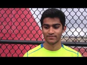 Vineland tennis player Rahi Patel