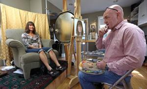 Artist meets his neighbors  by painting their portraits