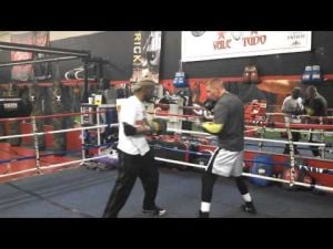 Somers Point boxer Patrick Majewski works out