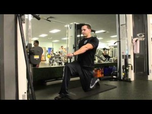Your workout: Half-kneel cable row