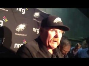 Andy Reid talks about the Eagles' 23-21 win over the Buccaneers, Dec. 9, 2012