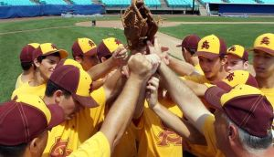 Baseball Is Back In Atlantic City As Local Babe Ruth Team Hosts Mid-Atlantic Regional Tournament: Members of the Atlantic Shore Babe Ruth 13-15 year old baseball team huddle up during a practice Wednesday at Surf Stadium in Atlantic City. The team begins play today at 4 p.m.