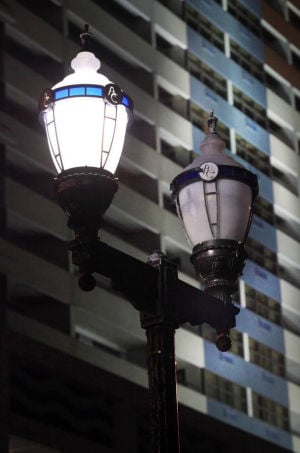 STREET LIGHT RESPONSIBILITY: Street lights on and off along North Carolina Avenue near Pacific Avenue in Atlantic City on Tuesday.  - Vernon Ogrodnek