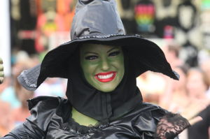 MISS NJ PARADE: Miss New Jersey contestants wear villain costumes as they parade on the Ocean City Boardwalk.  - Edward Lea
