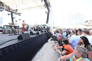 Mac McAnally Performs On Stage At A Free Concert Held On The Beach In Front Resorts Maragaritaville In Atlantic City With Special Guest Jimmy Buffet: ATLANTIC CITY, NJ: Mac McAnally performs on stage at a free concert held on the beach in front Resorts Maragaritaville in Atlantic City with special guest Jimmy Buffet on Saturday June 15, 2013 Photo: Tom Briglia/PhotoGraphics ATLANTIC CITY, NJ: Mac McAnally performs on stage at a free concert held on the beach in front Resorts Maragaritaville in Atlantic City with special guest Jimmy Buffet on Saturday June 15, 2013 Photo: Tom Briglia/PhotoGraphics  - Tom Briglia/PhotoGraphics