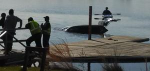 Car in Lake Lenape