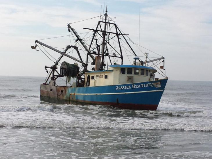 Fishing vessel freed after running aground at missouri for Atlantic city fishing pier
