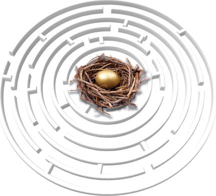 Golden egg illustration