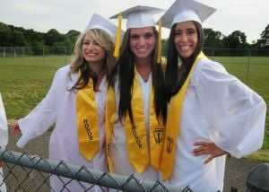 Hammonton Graduation: Nicolette Norton, 17, of Folson, and Sarah Sharp, 17, and Lauren Berger, 18, both of Hammonton.