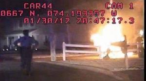 barnegat police pull man from burning car