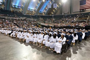 ATLANTIC CITY GRADUATION: On June 24th at the Atlantic City Boardwalk hall, the Atlantic City High School graduation is under way. - Matthew Strabuk