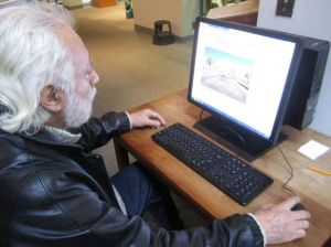 A.C. Library Adds Pronunciator  To Its Language-learning Offerings: Jose Bruno Tellez, 73, a recent retiree, uses his free time impoving his English, making use of Pronunciator, the newest language-based eResource to become available at the library.  - Caitlin Honan