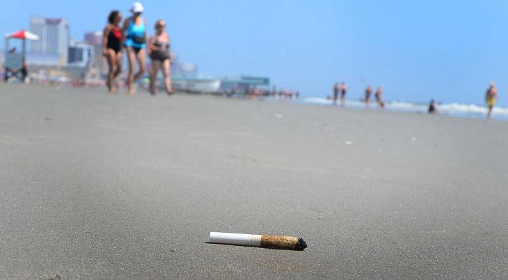 Smoking on the Beach