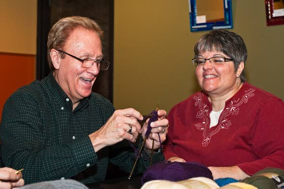 Scarf It Up pairs friendly get-together with program of knitting for charity