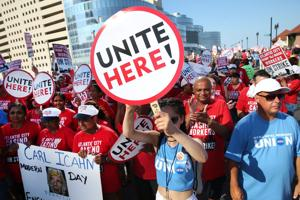Local 54 rallies outside Taj Mahal, other unions join