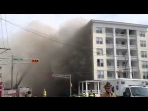Bellevue Hotel in Ocean City, NJ,  catches on fire