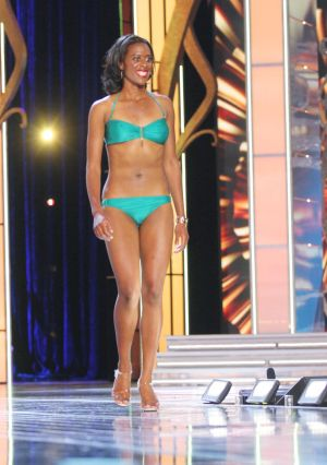 Miss America 2 PRELIMS: Miss Alaska Michelle Taylor contestant walks the runway during swimsuit portion of the preliminary second round of the Miss America pageant at Boardwalk Hall in Atlantic City, New Jersey, September 11 2013 - Photo by Edward Lea