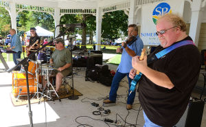 Good Old Days: Danny Eyer (right) plays with the Hawkins Road band. Saturday September 7 2013 Annual Good Old Days Festival at Kennedy Park in Somers Point benefits the Lawrence Bud Kern Scholarship Fund. (The Press of Atlantic City / Ben Fogletto) - Photo by Ben Fogletto