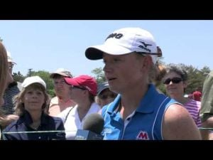 Stacy Lewis' First Round Interview at the 2013 ShopRite LPGA Classic presented by Acer