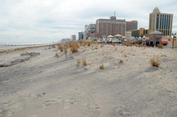 christie on dunes