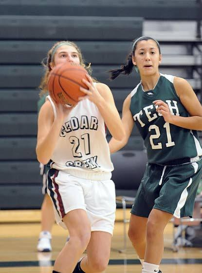 Cedar Creek girls basketball team wins first varsity game in school history