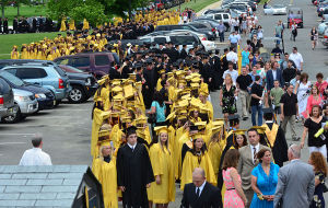 SOUTHERN REGIONAL GRADUATION: Graduates fill the parking lot waiting to enter the field. Friday June 14 2013 Southern Regional Graduation. (The Press of Atlantic City / Ben Fogletto)  - Ben Fogletto