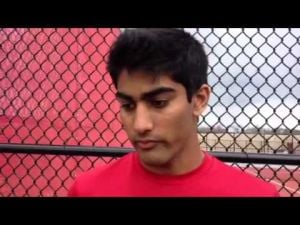 Vineland boys tennis player Dhruv Patel