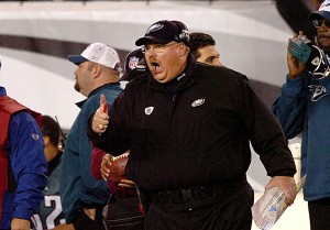 Photos of Andy Reid while coach of the Eagles