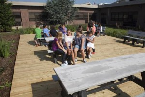 Ocean City Intermediate School adds rain garden to its courtyard
