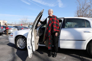 F17 Driver Reeducation: Karen Delgado, a stroke victim from Mays Landing, stands outside her car at the Bacharach Institute for Rehabilitation, in Pomona, NJ, that was modified to allow her to drive, Tuesday Feb. 11, 2014. - Vernon Ogrodnek