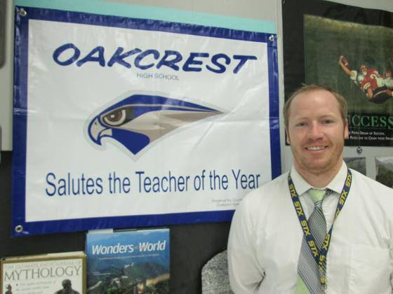 Oakcrest teacher of year Leathers also serves school as coach, adviser