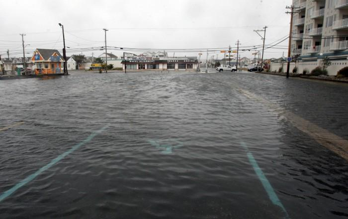 Flood water at Susquehanna and Rio Grande Avenues in Wildwood