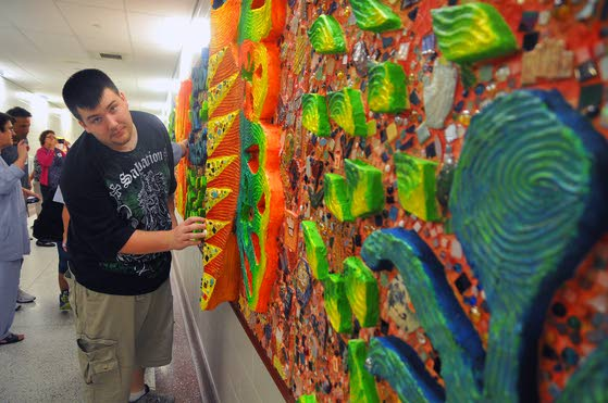 Mural at county Special Services School represents students' accomplishments