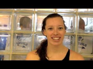 Interview with Vineland swimmer Rachel Bernhardt at Meet of Champions on March 3, 2013