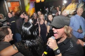 <p>Seven Stone rocks out with the crowd at Live Bar in Golden Nugget Atlantic City.</p>