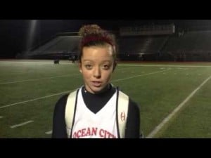Ocean City's Paige Broadley talks about Ocean City's field hockey title, Nov. 13, 2012