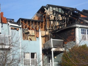 EHT FIRE Damage - Photo by Anjalee Khemlani